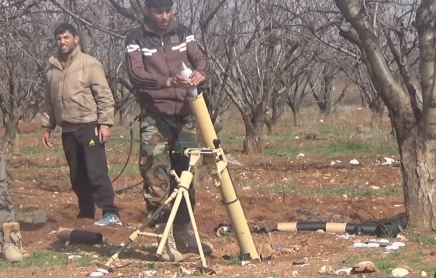 Mortar In Field : Serbian m a mortar documented in syria armament