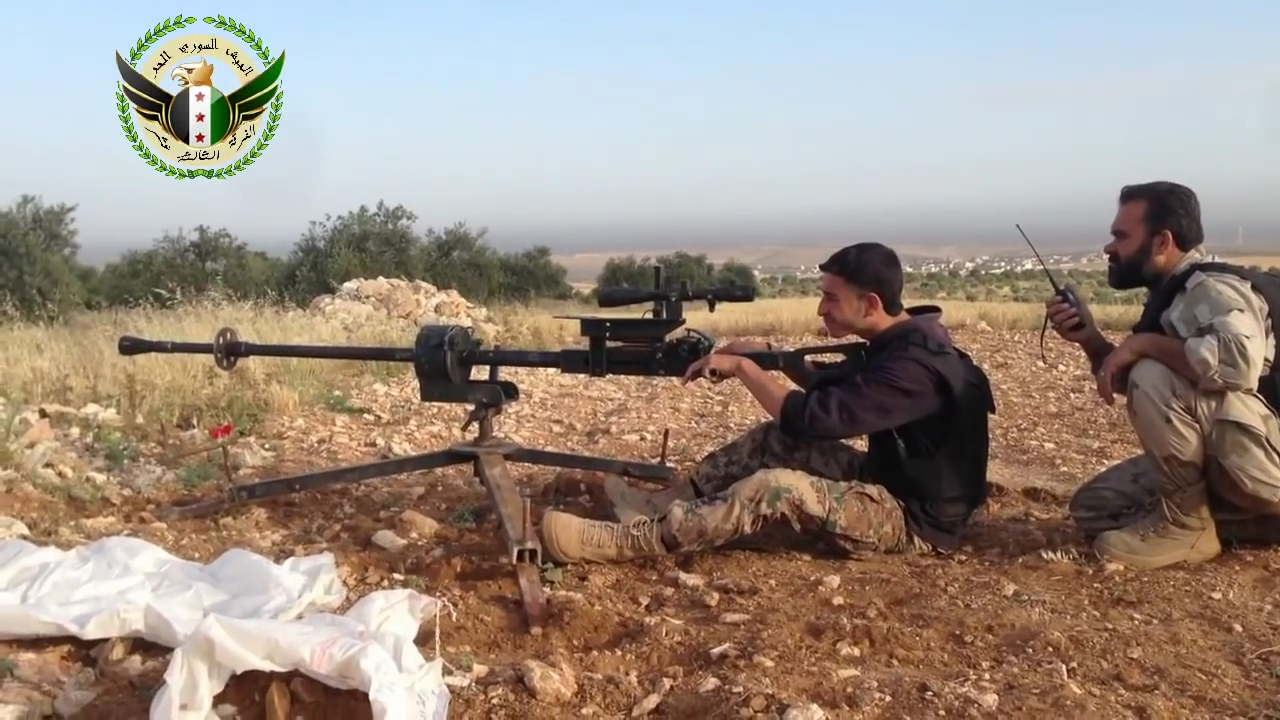 Anti Materiel Rifle 2x35 sub-calibre training device used as amr in syria
